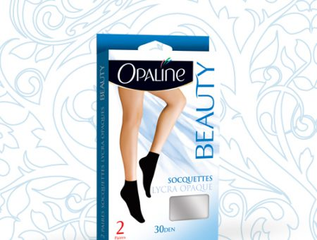 Duo socquettes lycra opaque BEAUTY 30